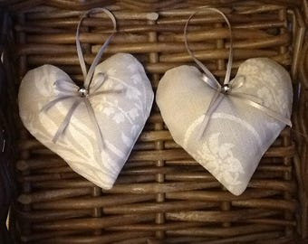 Laura Ashley Josette fabric hanging hearts with a hint of lavender lovely Mother's Day gift
