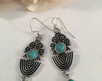 Silver with a touch of Turquoise