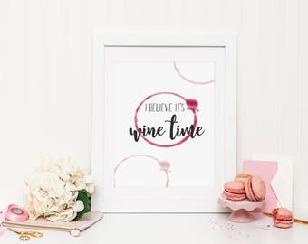 Wine Time Wall Print ***DIGITAL FILE***