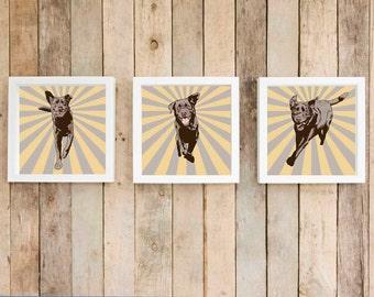 chocolate labrador sunburst wall art labrador retriever starburst wall decor dog gift pet owner - Sunburst Wall Decor