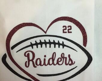 Football Heart TShirt