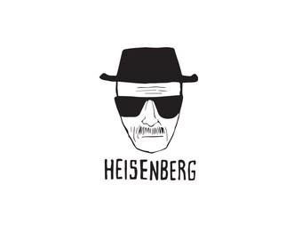 Heisenberg Decal, Breaking Bad Decal, Heisenberg, Vinyl Decal, Breaking Bad Art
