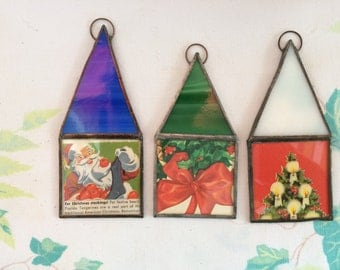 Set of Stained Glass Ornaments