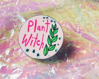 Plant Witch Handmade Brooch