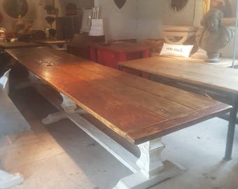 4.7m long Refectory Dining Table. Seats 16 people with comfort.