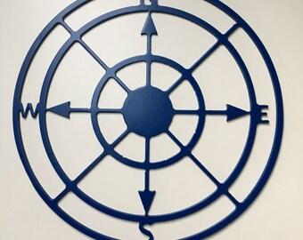 Compass, Custom made metal sign, Boating, Camp,Plasma Cut