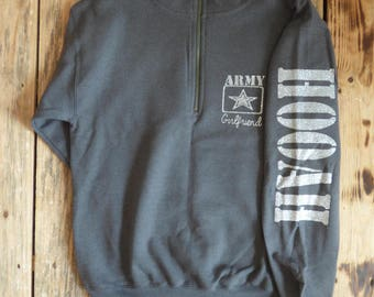 Army Wife, Army Mom, Army Sister, Army Dad, Army Girlfriend, Army Fiance Pull Over