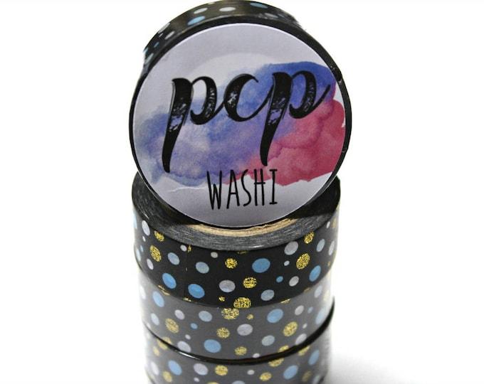 Washi Tape - Polka Dot Foil Washi Tape - Gold Foil Washi Tape - Paper Tape - Planner Washi Tape - Washi - Decorative Tape - Deco Paper