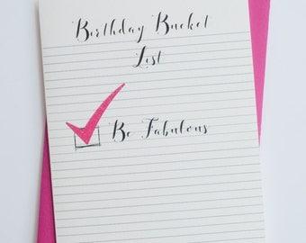Birthday Bucket List | Funny Birthday | Happy Birthday Card