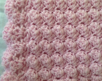Crocheted Baby Girl Blanket