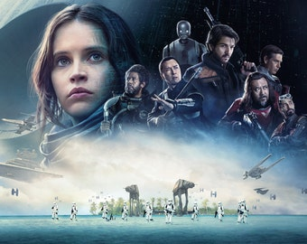 FREE SHIPPING Rogue One Star Wars movie poster 11x17