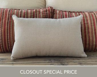 """Closeout! Linen pillow, cream brown, Pillow case, Cushion Cover, throw pillow, accent pillow, lumbar pillow, 12""""x18"""""""