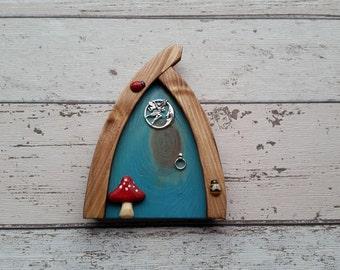 Outside/Indoor garden Fairy Door Elf Door Sky Blue  Range Beautiful Handmade
