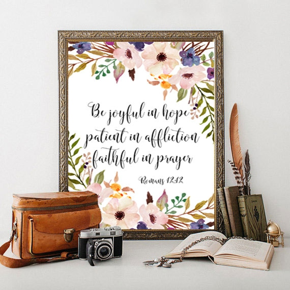 Christian Wall Decor For Nursery : Items similar to bible verse scripture print art nursery