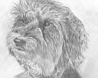 Personalized custom portrait from photo,dog portrait