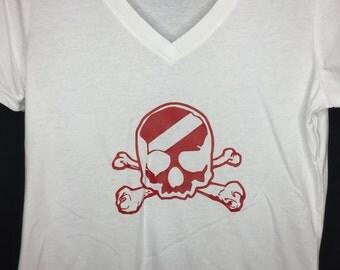 Scuba Diver Shirt Skull