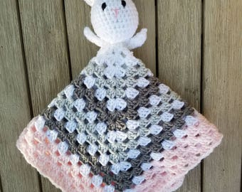 Bunny Lovey Security Blanket