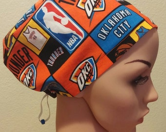 Women's Surgical Cap, Scrub Hat, Chemo Cap, Oklahoma City Thunder
