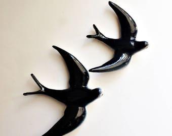 Mid century ceramic Swallows