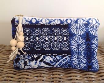 Maya linen clutch
