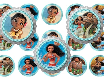 """MOANA BOTTLE CAPS 1 """"download of image printable 4 by 6"""""""