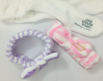 New Soft Towel Headband,Hair Band , Wrap For Bath, Spa, cute big bow towel head bands, cute head band, korea accessories