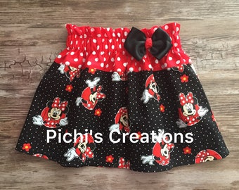 Minnie Mouse Skirt, Minnie Skirt