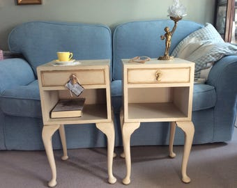 A Pair of Regency Style Bedside Cabinets