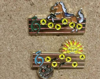 4 zelda inspired song hat pins