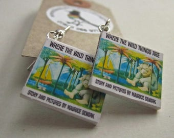 "Where The Wild Things Are  Book Earrings from ""The Earring Library"""