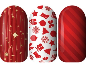 Celebrate Nail Wraps. Beautiful Nail Wraps for Christmas. Gift for her. Made in Australia
