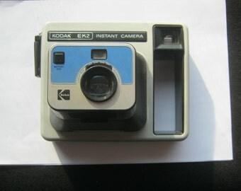 Instant camera Kodak EK2 ca. 1960-70 was good to feature checked OK, no battery