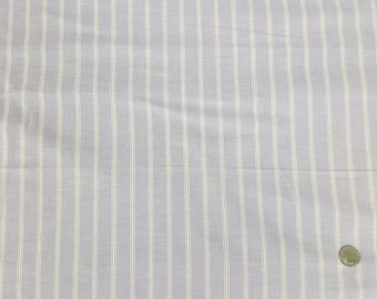 4 yards lilac chambray with white stripe