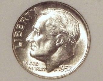 1952D Roosevelt Dime NGC MS66