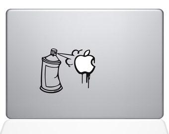 Graffiti Apple Spray Can Macbook Decal For Macbook Apple Laptop Sticker
