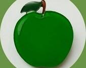 Green Apple Brooch, Vintage Inspired, Novelty brooch, Rockabilly, Pinup, Fruit, Tiki, Jewelry, Acrylic, Resin, Plastic, Lasercut, Pin