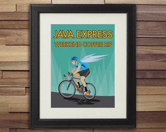Bicycle Art - Java Express Weekend Coffee Rip