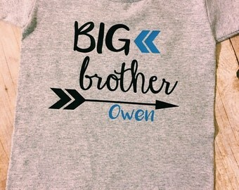 Big brother shirt, big sister, sibling shirts, pregnancy announcement, birth announcement