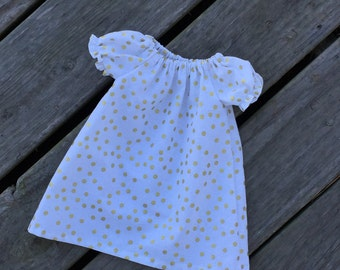 Peasant infant dress, infant dress, Spring Dress, baby girl Gown, Layette, Shower Gift, Gown, Infant Girl Gown, Peasant toddler dress, gown