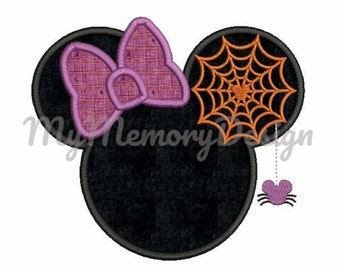 Halloween Embroidery Design - Character Applique design - Miss mouse embroidery design - Machine embroidery - INSTANT DOWNLOAD - 3 SIZE