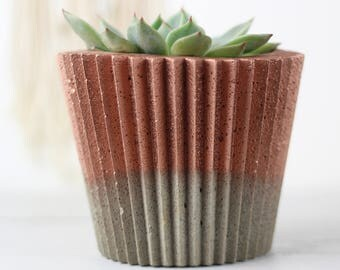 Copper Planter – Concrete Planter – Copper Home Decor – Copper Gift – Gift For Her– Copper Decor - Copper Anniversary
