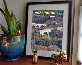 Bridges Across Rock Creek Park - Postcards from Washington DC - Duke Ellington Bridge, Taft Bridge, Outdoors lover, housewarming present DC