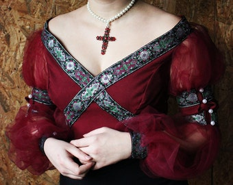 Fantasy Top, Cosplay Top, Fairy Top, Dress Top, Renaissance Costume, Medieval Dress Top, Historical Dress Top, Fairy Prom Top