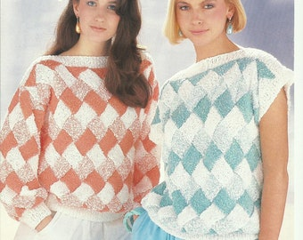 Ladies Sweater and Top Knitting Pattern.