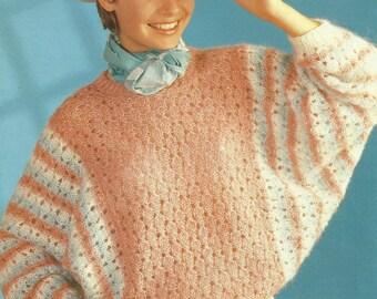 Vintage Ladies Sweater Knitting Pattern.