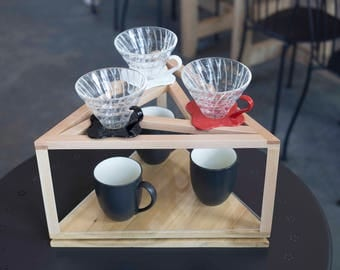 Spinning Triple Pour Over Stand
