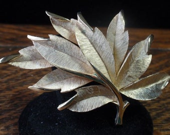 Crown Trifari Leaf Brooch