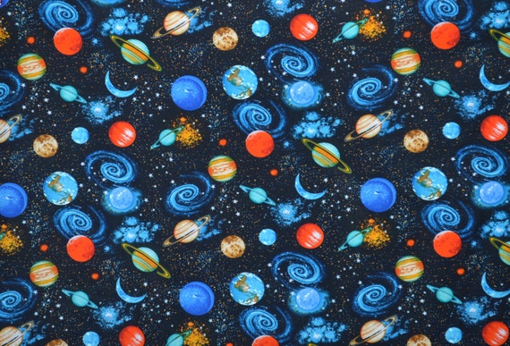 Space fabric cotton fabric quilting fabric fabric by for Space fabric by the yard