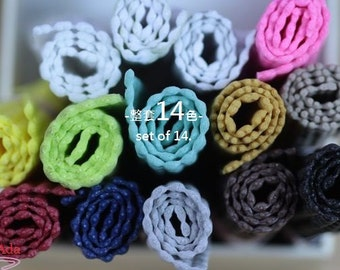 F30429-about 95x140mm set of 14 colors Non Slip Grips Liners for Alligator Clips.(60g)