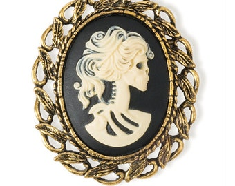 Skull Cameo Pendant/Pin (STEAM087)